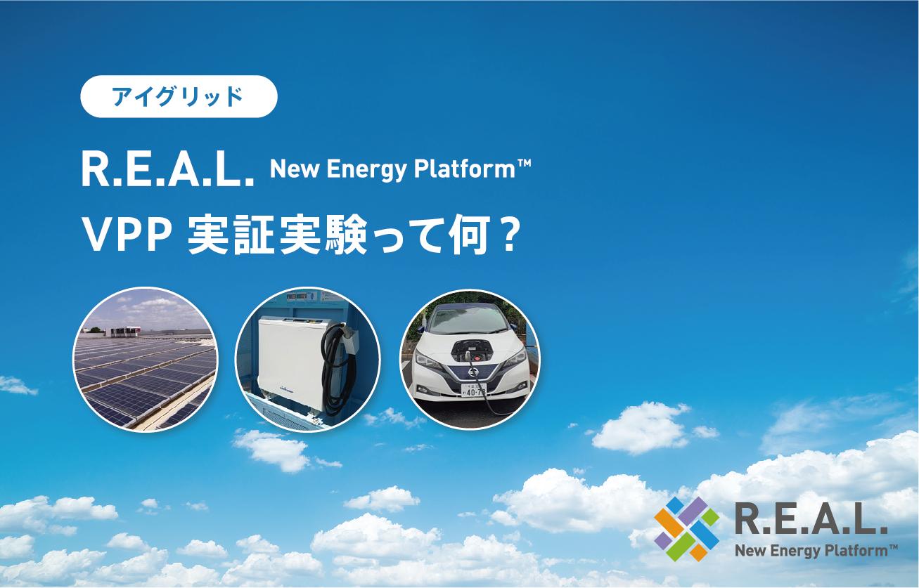 VPP実証実験って何?アイ・グリッド・ソリューションズ「R.E.A.L. New Energy Platform™」